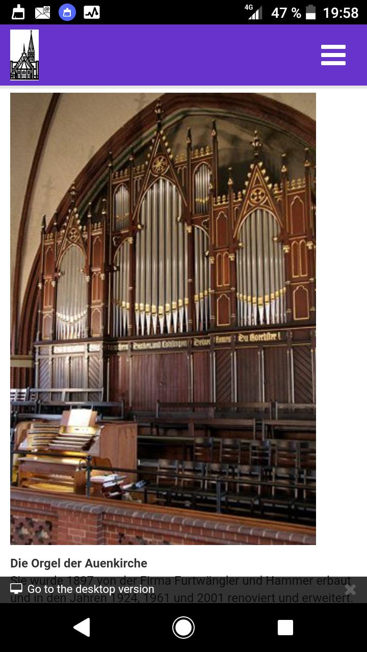 Orgel der Auenkirche in Berlin